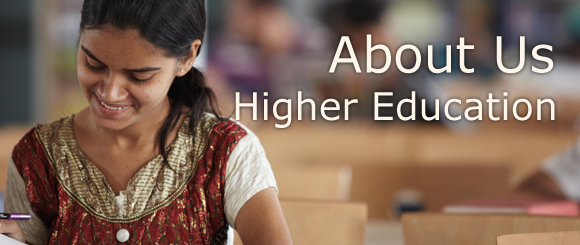About Us - Higher Education [banner]
