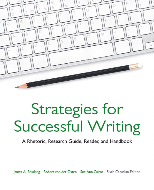 Essay writing for canadian students with readings eighth edition