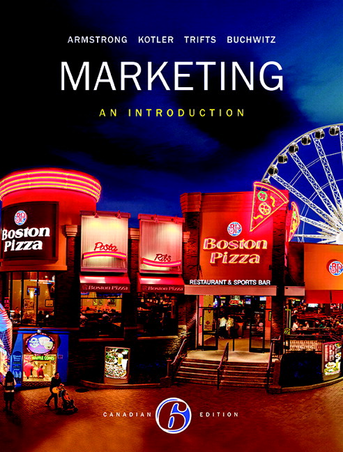 Marketing  An Introduction  Sixth Canadian Edition Plus Mymarketinglab With Pearson Etext