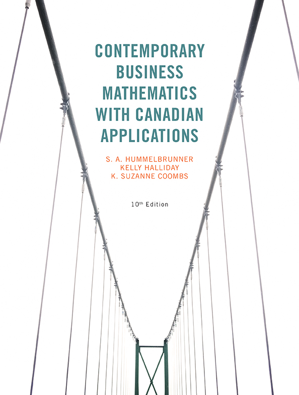 Contemporary Business Mathematics with Canadian Applications with MyMathLab, 10/e [cover]